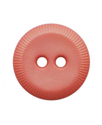 Polyamidknopf rund mit 2 Löchern - Größe:  13mm - Farbe: pink - ArtNr.: 228814