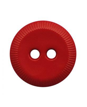 Polyamidknopf rund mit 2 Löchern - Größe:  13mm - Farbe: rot - ArtNr.: 228816