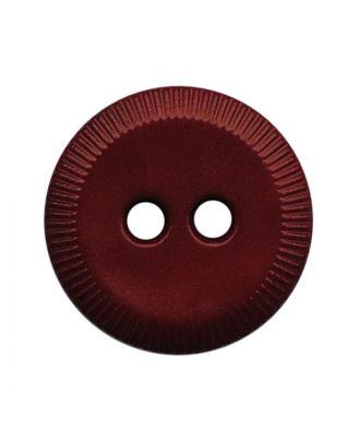 Polyamidknopf rund mit 2 Löchern - Größe:  13mm - Farbe: weinrot - ArtNr.: 228817
