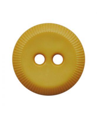 Polyamidknopf rund mit 2 Löchern - Größe:  13mm - Farbe: gelb - ArtNr.: 228818