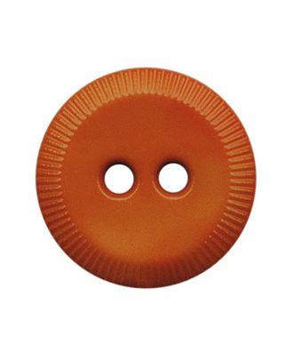Polyamidknopf rund mit 2 Löchern - Größe:  13mm - Farbe: orange - ArtNr.: 228819