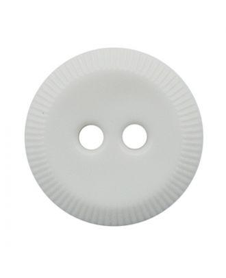 Polyamidknopf rund mit 2 Löchern - Größe:  13mm - Farbe: weiß - ArtNr.: 221967