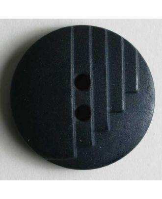 Modeknopf mit stufenförmigen Kerben, 2 Loch -  Größe: 18mm - Farbe: blau - Art.Nr. 231129