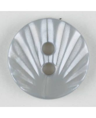 Polyamidknopf mit strahlenförmigem Dekor,  2-loch - Größe: 13mm - Farbe: grau - Art.Nr. 213700