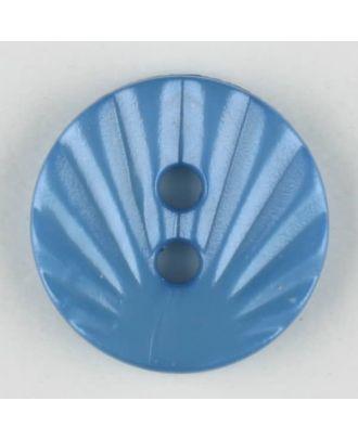 Polyamidknopf mit strahlenförmigem Dekor,  2-loch -  Größe: 13mm - Farbe: blau - Art.Nr. 213705