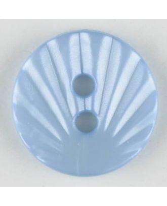 Polyamidknopf mit strahlenförmigem Dekor,  2-loch -  Größe: 13mm - Farbe: blau - Art.Nr. 213706