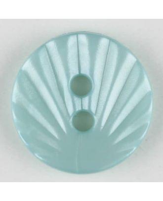 Polyamidknopf mit strahlenförmigem Dekor,  2-loch - Größe: 13mm - Farbe: grün - Art.Nr. 213716