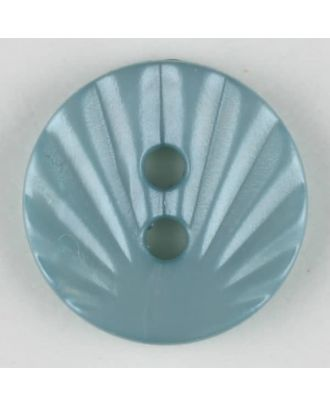 Polyamidknopf mit strahlenförmigem Dekor,  2-loch -  Größe: 13mm - Farbe: grün - Art.Nr. 213719