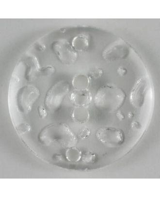 Modeknopf im Wassertropfenlook, 4 Loch -  Größe: 23mm - Farbe: transparent - Art.Nr. 250785