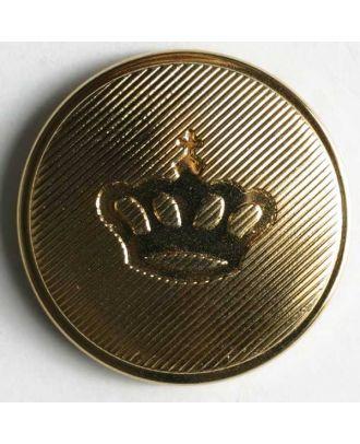 Wappenknopf, Kunststoff metallisiert - Größe: 25mm - Farbe: gold - Art.Nr. 300149
