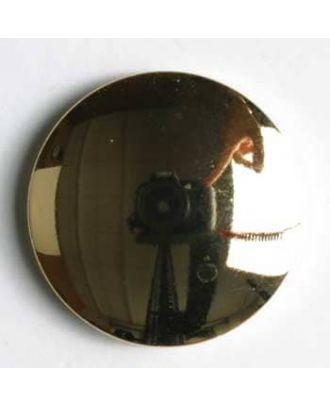 Kunststoffknopf metallisiert, rund und glänzend - Größe: 18mm - Farbe: gold - Art.Nr. 240615