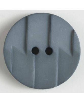 Polyamidknopf, Ton-in-Ton mit Abrißkante, 2-loch - Größe: 25mm - Farbe: grau - Art.Nr. 315600