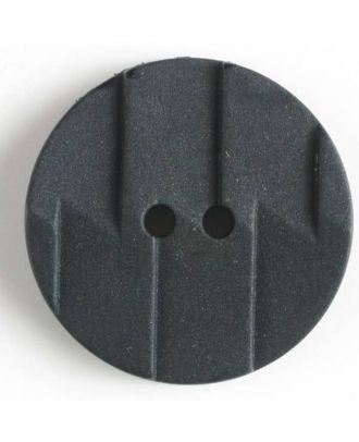 Polyamidknopf, Ton-in-Ton mit Abrißkante, 2-loch - Größe: 19mm - Farbe: schwarz - Art.Nr. 261180