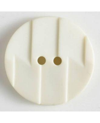 Polyamidknopf, Ton-in-Ton mit Abrißkante, 2-loch - Größe: 19mm - Farbe: beige - Art.Nr. 265601