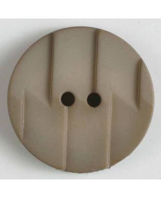 Polyamidknopf, Ton-in-Ton mit Abrißkante, 2-loch - Größe: 28mm - Farbe: beige - Art.Nr. 345602