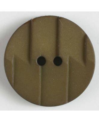 Polyamidknopf, Ton-in-Ton mit Abrißkante, 2-loch - Größe: 28mm - Farbe: braun - Art.Nr. 345603