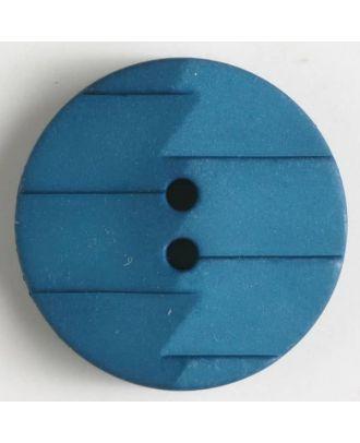 Polyamidknopf, Ton-in-Ton mit Abrißkante, 2-loch - Größe: 19mm - Farbe: blau - Art.Nr. 265626