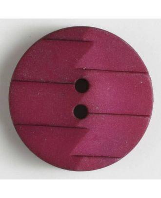 Polyamidknopf, Ton-in-Ton mit Abrißkante, 2-loch - Größe: 28mm - Farbe: lila - Art.Nr. 345627