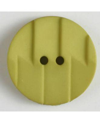 Polyamidknopf, Ton-in-Ton mit Abrißkante, 2-loch - Größe: 28mm - Farbe: grün - Art.Nr. 345605