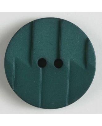 Polyamidknopf, Ton-in-Ton mit Abrißkante, 2-loch - Größe: 19mm - Farbe: grün - Art.Nr. 265606