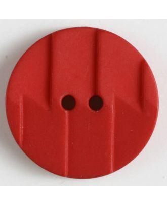 Polyamidknopf, Ton-in-Ton mit Abrißkante, 2-loch - Größe: 19mm - Farbe: rot - Art.Nr. 261181