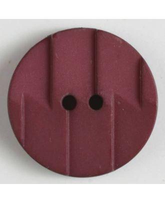 Polyamidknopf, Ton-in-Ton mit Abrißkante, 2-loch - Größe: 19mm - Farbe: weinrot - Art.Nr. 265608