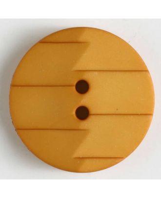 Polyamidknopf, Ton-in-Ton mit Abrißkante, 2-loch - Größe: 19mm - Farbe: gelb - Art.Nr. 265628