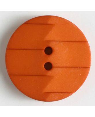 Polyamidknopf, Ton-in-Ton mit Abrißkante, 2-loch - Größe: 19mm - Farbe: orange - Art.Nr. 265629