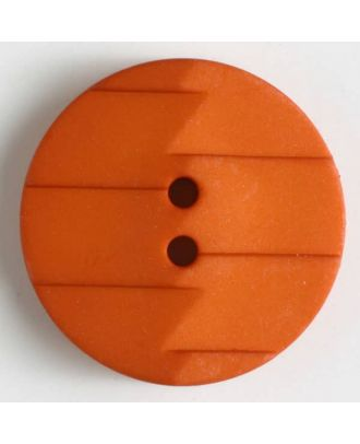 Polyamidknopf, Ton-in-Ton mit Abrißkante, 2-loch - Größe: 28mm - Farbe: orange - Art.Nr. 345629