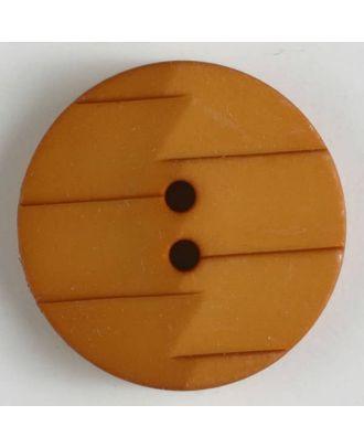 Polyamidknopf, Ton-in-Ton mit Abrißkante, 2-loch - Größe: 19mm - Farbe: orange - Art.Nr. 265630