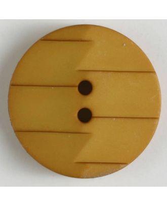 Polyamidknopf, Ton-in-Ton mit Abrißkante, 2-loch - Größe: 19mm - Farbe: orange - Art.Nr. 265631