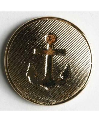Ankerknopf, Kunststoff metallisiert - Größe: 15mm - Farbe: gold - Art.Nr. 231212
