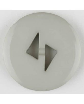 Polyamidknopf mit dreieckigen Knopflöchern, rund, 2 loch - Größe: 13mm - Farbe: grau - Art.Nr. 215723