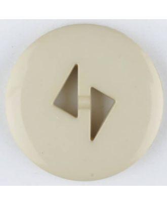 Polyamidknopf mit dreieckigen Knopflöchern, rund, 2 loch - Größe: 13mm - Farbe: beige - Art.Nr. 215724