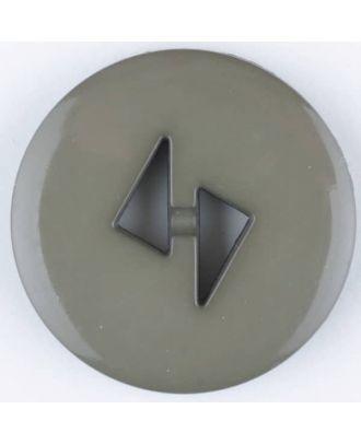 Polyamidknopf mit dreieckigen Knopflöchern, rund, 2 loch - Größe: 18mm - Farbe: braun - Art.Nr. 265703
