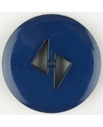 Polyamidknopf mit dreieckigen Knopflöchern, rund, 2 loch - Größe: 18mm - Farbe: blau - Art.Nr. 265705