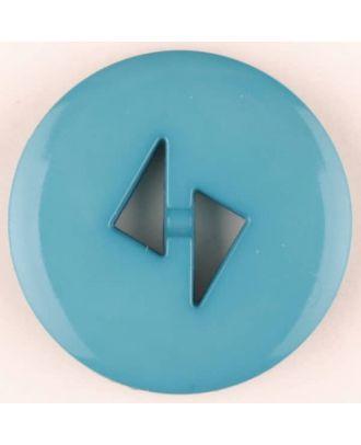 Polyamidknopf mit dreieckigen Knopflöchern, rund, 2 loch - Größe: 13mm - Farbe: grün - Art.Nr. 215730