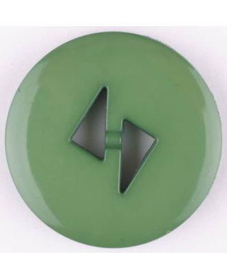 Polyamidknopf mit dreieckigen Knopflöchern, rund, 2 loch - Größe: 13mm - Farbe: grün - Art.Nr. 215731
