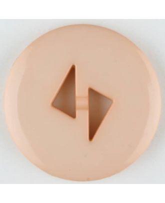 Polyamidknopf mit dreieckigen Knopflöchern, rund, 2 loch - Größe: 18mm - Farbe: pink - Art.Nr. 265709