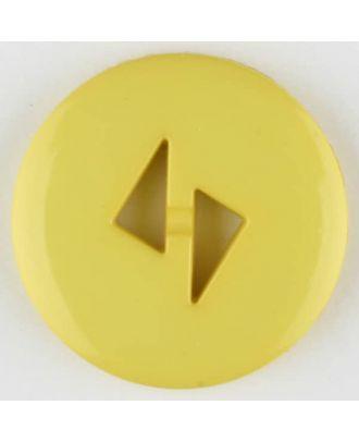 Polyamidknopf mit dreieckigen Knopflöchern, rund, 2 loch - Größe: 18mm - Farbe: gelb - Art.Nr. 265712
