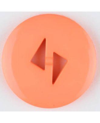 Polyamidknopf mit dreieckigen Knopflöchern, rund, 2 loch - Größe: 13mm - Farbe: orange - Art.Nr. 215736