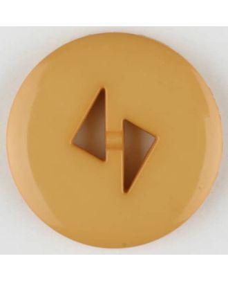 Polyamidknopf mit dreieckigen Knopflöchern, rund, 2 loch - Größe: 23mm - Farbe: orange - Art.Nr. 315714