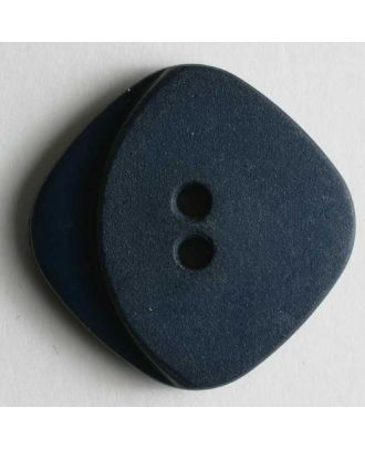 Modeknopf viereckig, matt, an einem Eck glänzend - Größe: 20mm - Farbe: blau - Art.Nr. 260641