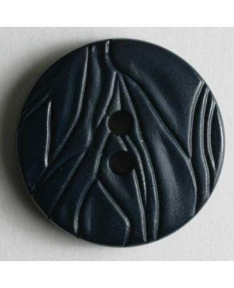 Modeknopf mit faltigem Look - Größe: 20mm - Farbe: blau - Art.Nr. 260642
