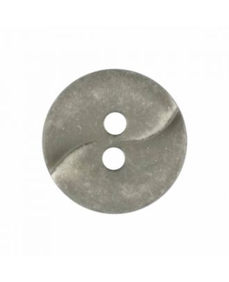 kleiner Polyamidknopf mit einer Welle und zwei Löchern - Größe: 13mm - Farbe: grau - Art.Nr. 225827