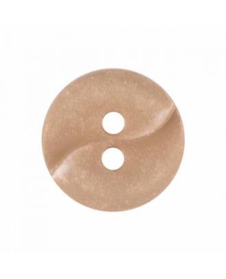 kleiner Polyamidknopf mit einer Welle und zwei Löchern - Größe: 13mm - Farbe: beige - Art.Nr. 225802