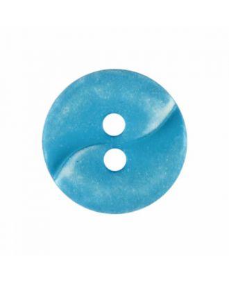 kleiner Polyamidknopf mit einer Welle und zwei Löchern - Größe: 13mm - Farbe: blau - Art.Nr. 225807