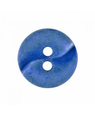 kleiner Polyamidknopf mit einer Welle und zwei Löchern - Größe: 13mm - Farbe: blau - Art.Nr. 225808