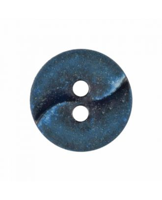 kleiner Polyamidknopf mit einer Welle und zwei Löchern - Größe: 13mm - Farbe: blau - Art.Nr. 225810