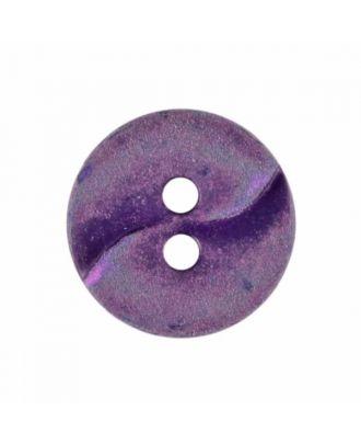 kleiner Polyamidknopf mit einer Welle und zwei Löchern - Größe: 13mm - Farbe: lila - Art.Nr. 225811